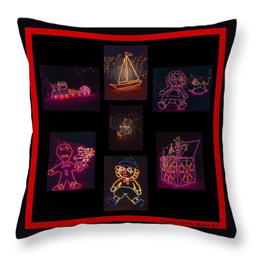 Digital Art Throw Pillow featuring the photograph Children's Toys In Lights Poster 2 by Marian Bell
