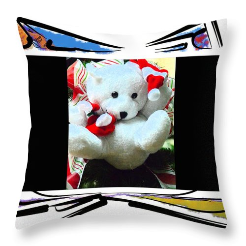 Teddy Throw Pillow featuring the photograph Child's Teddy Bear by Kathleen Struckle