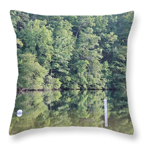 Reflections Throw Pillow featuring the photograph Chilhowee by Robin Vargo