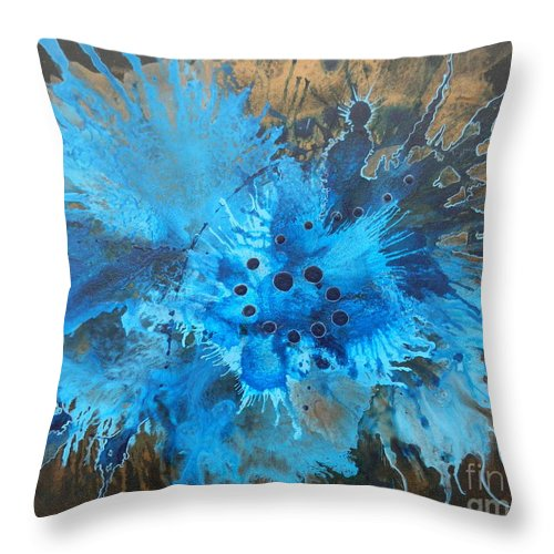 Abstract Throw Pillow featuring the painting Chill by Duchek Jocelyn