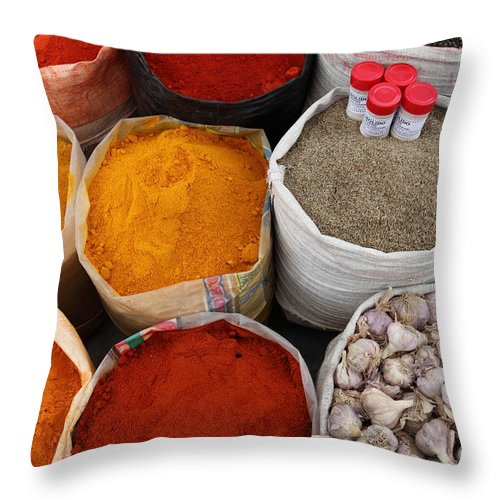 Chilli Throw Pillow featuring the photograph Chilli Powders 4 by James Brunker