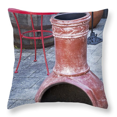 Scenery Throw Pillow featuring the photograph Chiminea by Kenneth Albin