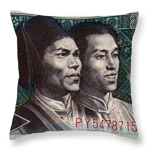 Chinese Throw Pillow featuring the photograph China by John Madison