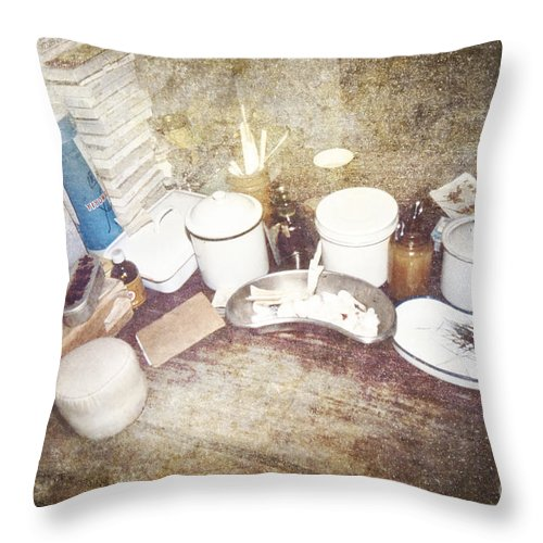 China Throw Pillow featuring the photograph Chinese Doctor's Devices by Heiko Koehrer-Wagner