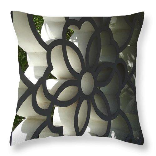 Huntington Gardens Throw Pillow featuring the photograph Chinese Garden Window by Cheryl Hardt Art