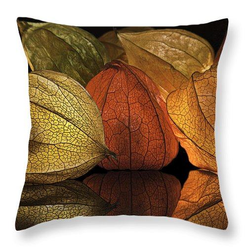 Chinese Lanterns Throw Pillow featuring the photograph Chinese Lanterns by Scott Moss