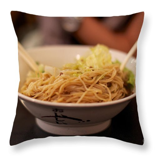 Asian Throw Pillow featuring the photograph Chinese Noodle Dish by Jannis Werner