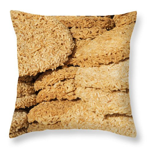 Asia Throw Pillow featuring the photograph Chinese Rice Cakes by Jacek Malipan