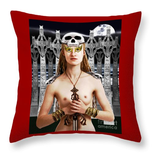 Irish Throw Pillow featuring the digital art Chloe Ardent Protector by Keith Dillon