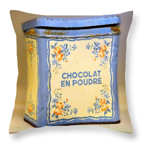 Chocolate Throw Pillow featuring the photograph Chocolat En Poudre by Catherine Sherman