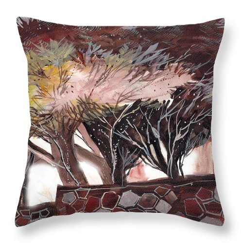 Dream Throw Pillow featuring the painting Chocolate by Anil Nene
