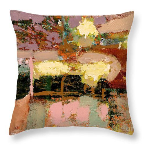 Landscape Throw Pillow featuring the painting Chopped Liver by Allan P Friedlander
