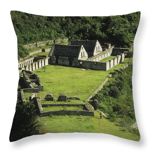 Peru Throw Pillow featuring the photograph Choquequirao by James Brunker
