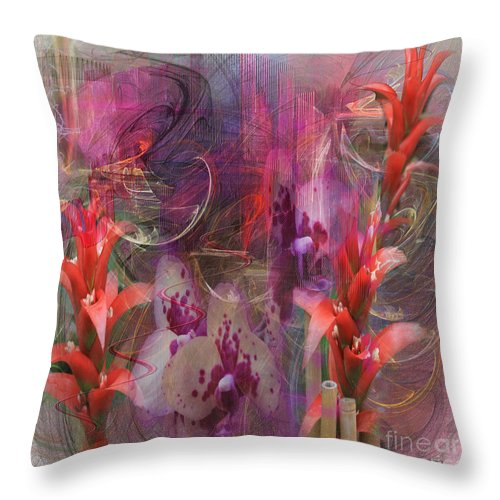Floral Throw Pillow featuring the digital art Chosen Ones - Square Version by John Robert Beck