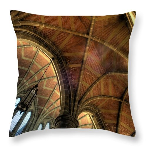 Cathedral Throw Pillow featuring the photograph Christ Church Cathedral Roof Detail by Bob Christopher