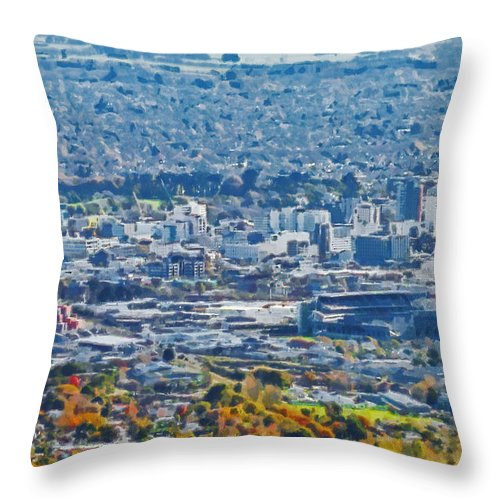 Christchurch Throw Pillow featuring the photograph Christchurch City by Steve Taylor