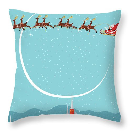 Holiday Throw Pillow featuring the digital art Christmas Background by Akindo