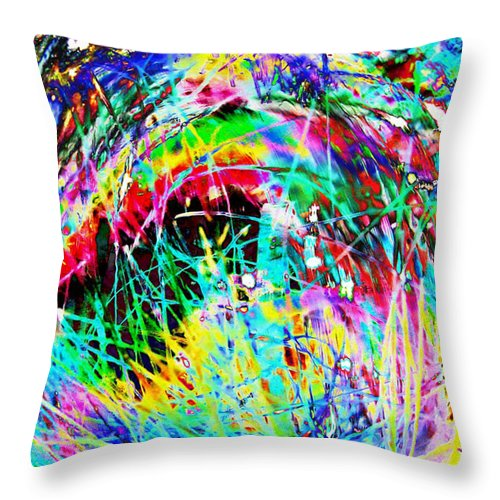 Christmas Throw Pillow featuring the digital art Christmas by Carol Lynch