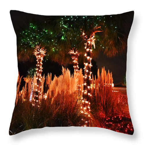 Travel Throw Pillow featuring the photograph Christmas In The Sand by Elvis Vaughn