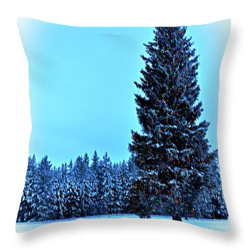 Island Park Throw Pillow featuring the photograph Christmas In The Valley by Image Takers Photography LLC - Laura Morgan