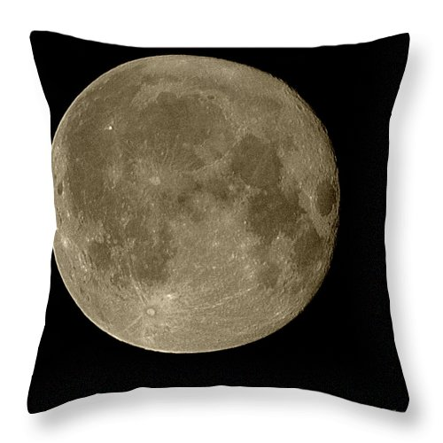 Moon Throw Pillow featuring the photograph Christmas Moon 2012 by Randall Thomas Stone