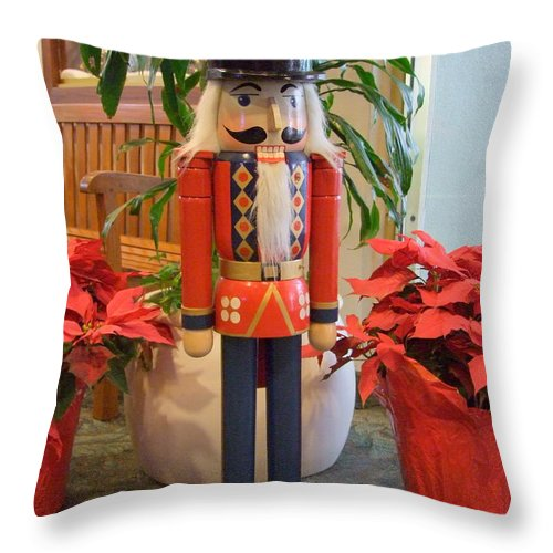 German Throw Pillow featuring the photograph Christmas Sentinel No 1 by Mary Deal