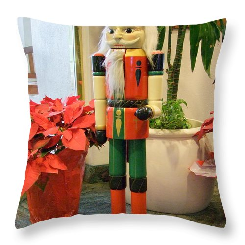 German Throw Pillow featuring the photograph Christmas Sentinel No 2 by Mary Deal