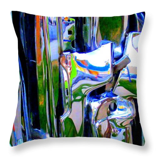 Chrome Throw Pillow featuring the photograph Chrome by Randall Weidner