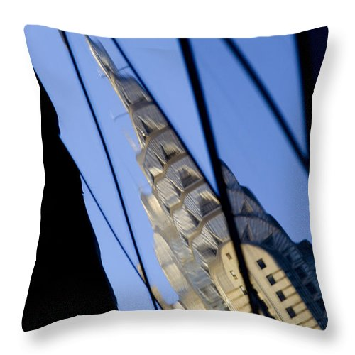 Chrysler Throw Pillow featuring the photograph Chrysler Building by Tony Cordoza
