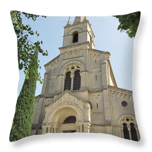 Church Throw Pillow featuring the photograph Church In Gordes by Pema Hou