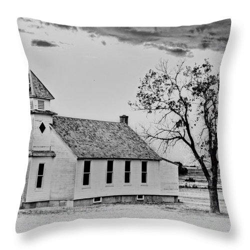 Church Throw Pillow featuring the photograph Church On The Plains by Marty Koch