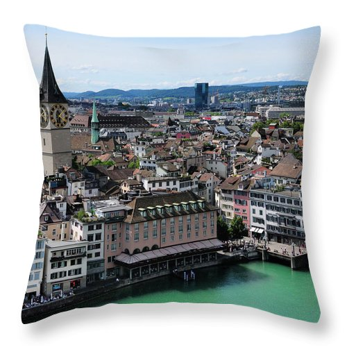 Tranquility Throw Pillow featuring the photograph Church Sankt Peter by Werner Büchel