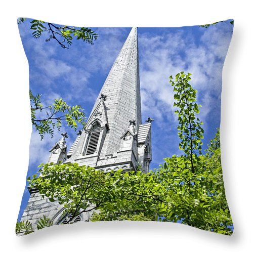Church Throw Pillow featuring the photograph Church Steeple by Eric Swan