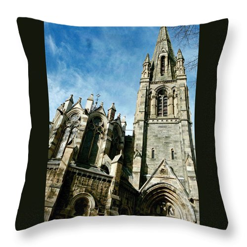 Churches Throw Pillow featuring the photograph Church With An Eerie Feel by Jennifer Robin