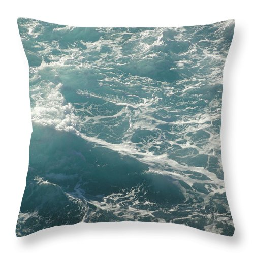 Waves Throw Pillow featuring the photograph Churn by Shannon Grissom