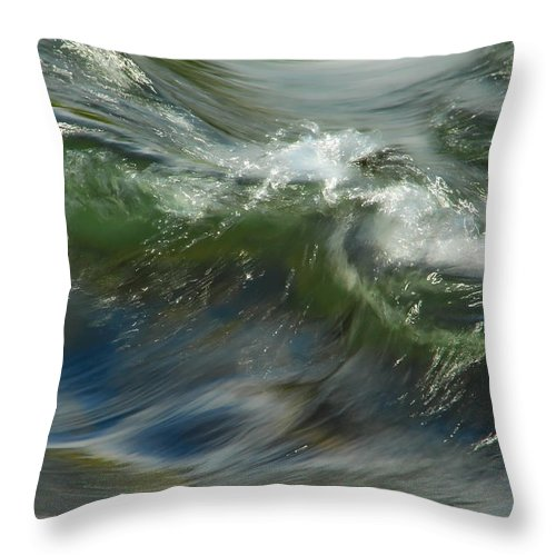 Water Throw Pillow featuring the photograph Churning Waters by Donna Blackhall