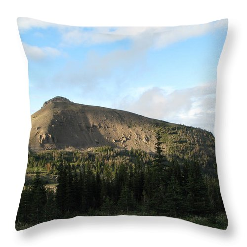 Scapegoat Massif Throw Pillow featuring the photograph Cigarette Rock03 by Pam Little