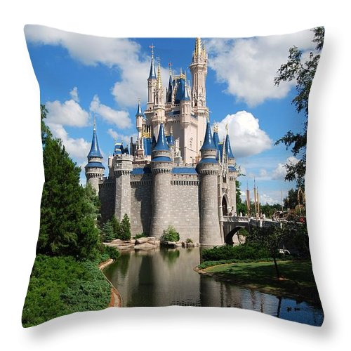 Cinderellas Castle Throw Pillow featuring the photograph Cinderellas Castle by Eric Liller