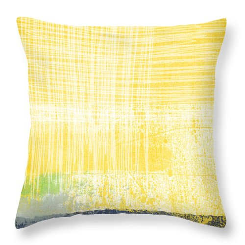Abstract Painting Throw Pillow featuring the painting Circadian by Linda Woods