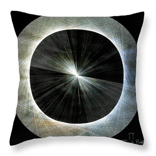 Jason Throw Pillow featuring the drawing Circles Do Not Exist 720 The Shape of Pi by Jason Padgett