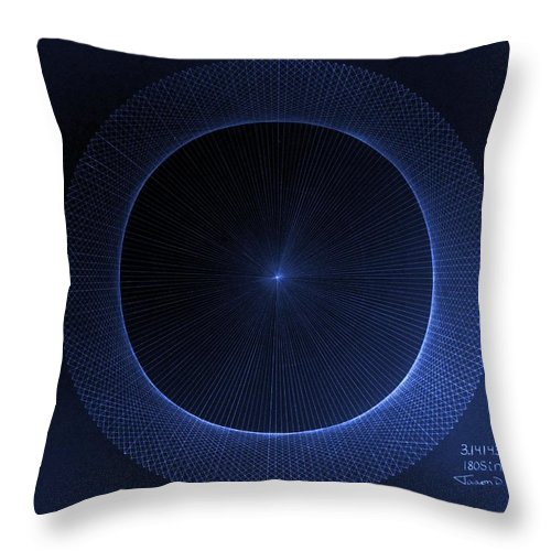 Jason Throw Pillow featuring the drawing Perfect Circles Don't Exist Pi 180 by Jason Padgett