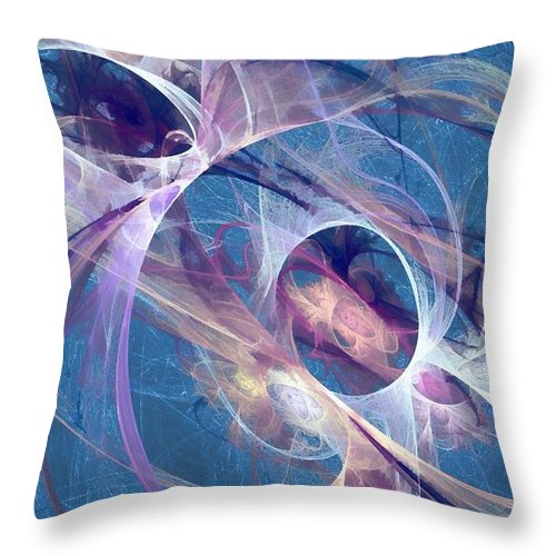 Digital Art Throw Pillow featuring the digital art Circling The Divine by Peggy Hughes