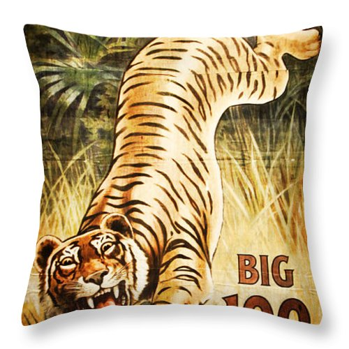 Circus Throw Pillow featuring the photograph Circus Tiger by K Hines