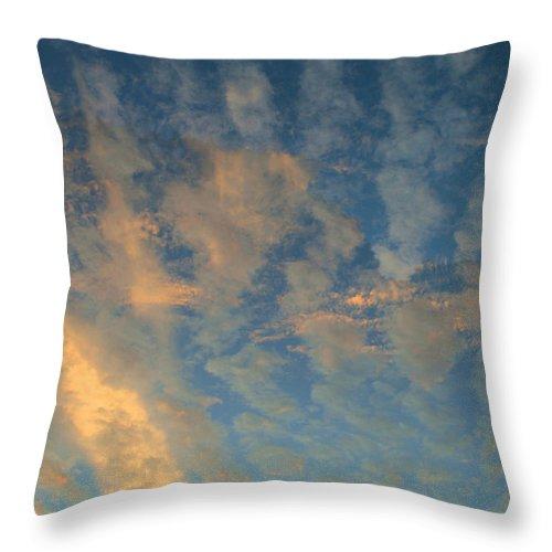 Cirrocumulus Morning Throw Pillow featuring the photograph Cirrocumulus Morning by Ellen Henneke