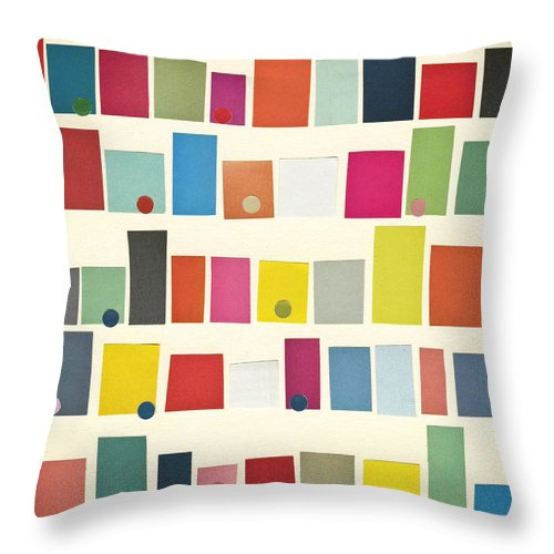City Throw Pillow featuring the mixed media City by Cassia Beck