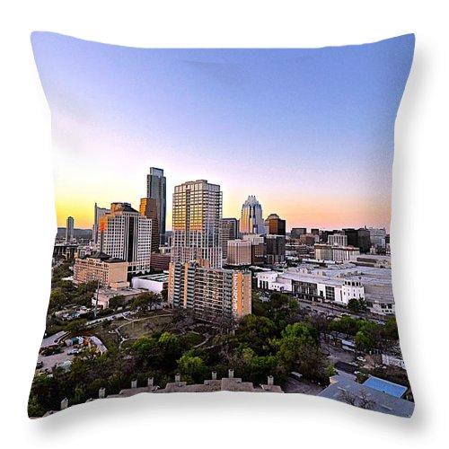 Austin Texas Photograph Throw Pillow featuring the photograph City Of Austin Texas by Kristina Deane