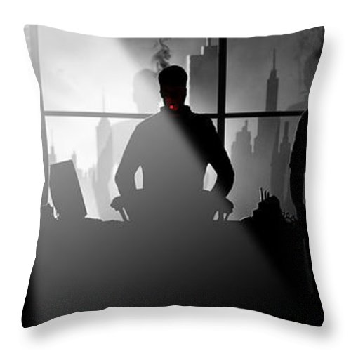 City Throw Pillow featuring the digital art City Scape by Trachenberg Trachenberg