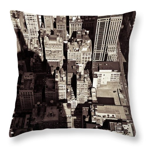 New York Throw Pillow featuring the photograph City Shadow by Dave Bowman