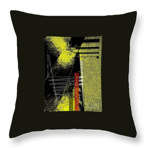 Abstract Throw Pillow featuring the photograph City Under The Pressures by Fei A