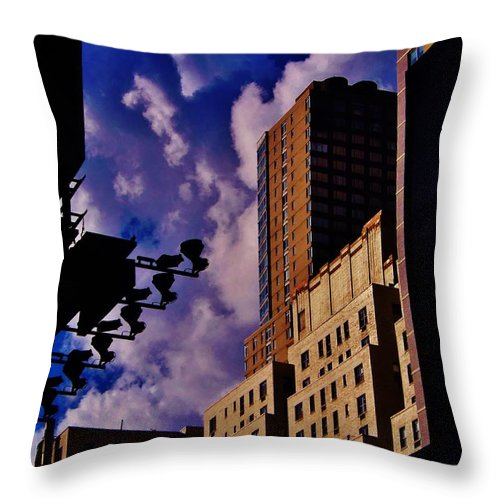 New York Throw Pillow featuring the photograph Cityscape by Greg Kear